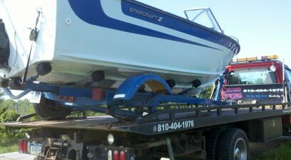 Boat and Specialty Towing Services in Michigans Thumb area. Sandusky, Sanilac, Lexington and Deckerville.